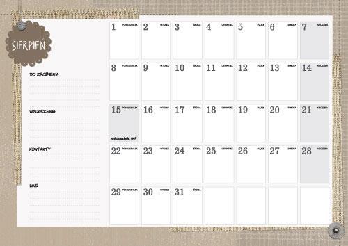kalendarz 2017 ♥ Kalendarz ścienny A3 A4 z własnymi zdjęciami d02