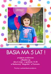 Kalendarz 2019 Zaproszenia Z Własnym Zdjęciem Urodzinowe